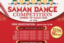Satelite - Saman / Project untuk desain poster, banner, nametag saman Telkom.