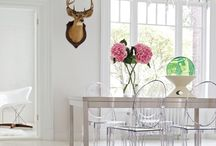 The perfect Canvas -all white rooms! / I love the way colors, patterns, &  everything else just pops to utter perfection!