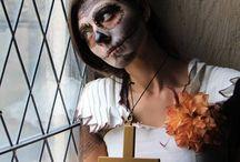 """Evento Fotográfico """"Sugar Skull"""" / Organização: Nuno Henriques  Make Up: Anabela Vieira Local: Castelo de Leiria"""