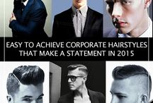 Hedonistic Hairdos /  Start 2015 with statement-making hairdos that help you look dapper and dashing.