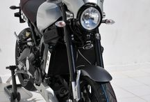 Yamaha XSR 900 2016 by Ermax Design / Nose fairing, belly pan, rear hugger garage metal colors