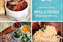 Whole Foods January 2015 Freezer Menu / Whether you are looking to try whole foods for the first time or add some new favorites to your repertoire, our Whole Foods January 2015 Menu has a little something to please every palate. / by Once A Month Meals