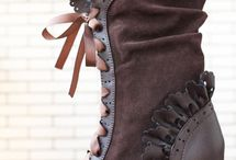 beautiful brown victorian boot
