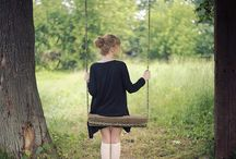 woman on swing - photography