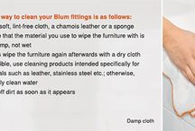 Blum Cleaning Tips / Blum Cleaning Tips