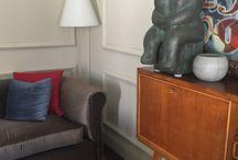 Interiors / Sofa designed by me, little table kartell