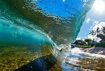 Surf / Water water everywhere... pictures that come as close as you can to being part of the surf...  Coolness
