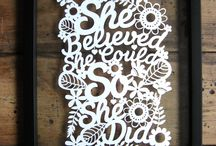 Paper Cutting Inspirational Quotes