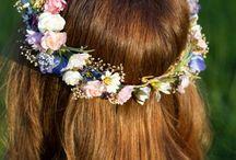 Hair wedding bride