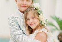 Weddings-Flower girls-Ring bearer / by Walking On Sunshine