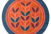 Tablecloths from Zimbabwe / Funky hand painted tablecloths from Africa, sadly no longer available on Kosmopolitan.