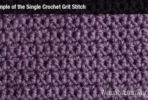 Different crochet stitches and patterns. / Shows you just a few of the many hundreds, if not thousands of #crochet #stitches and #patterns there is out there.