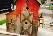 Wooden birdhouses / by Sally Coffey