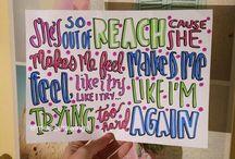 Lyrics / Lyrics from songs I love ♥