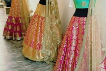 Saree to ghaghra choli