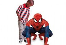 Spiderman Party Supplies / A range of printed Spiderman colour tableware which includes napkins, plates, table cover, cups, cutlery plus decorations and gifts. A range of Childrens Spiderman Fancy Dress to accompany these designs that is great for kids parties and add to create the perfect themed party.