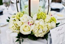 Velas centro de mesa con flores