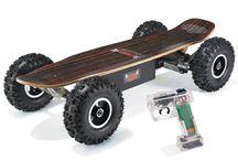 Offroad motorized skateboards