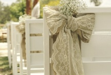 Lace / How to incorporate your love of lace into your wedding decor and not just the dress.