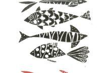 WOOD & LINOL Print