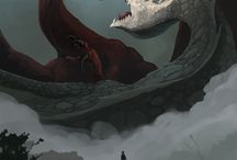 Dragons , wolf , monsters