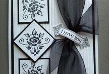 Elegant black n white cards