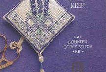 haft krzyżykowy - lawenda / cross-stitch lavender