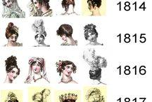 history hair, dresses