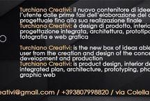 Turchiano Creativi / Turchiano Creativi: il nuovo contenitore di idee che supporta l'utente dalle prime fasi dell'elaborazione del concept progettuale fino alla sua realizzazione finale Turchiano Creativi è design di prodotto, interior design, progettazione integrata, architettura, prototipazione, fotografia e web grafica