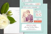 Photo Save the Date Cards / Lovely save the date cards that include your engagement photo. / by Elli