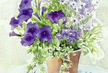 수채화 꽃