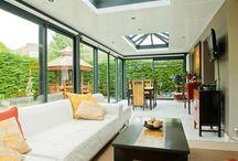 Véranda rectangulaire à toit plat