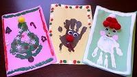 Christmas card handprints