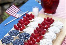 Rood, wit en blauw gebak
