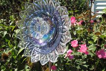 Yard Art (Dishes, Glass & Pans) / by Sandra Poag