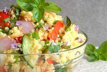 saláták, köretek.