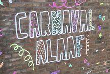 carnaval raamtekening
