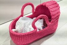 crochet doll's carry cot
