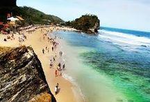 Indrayanti Beach dari CahyaTransport, Rental Mobil Jogja Murah