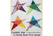 Star quilt block patterns.