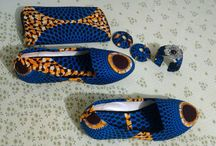 african print shoes, purses and asseccories / Love the bright colours of African fashion