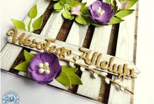 Handmade flowers inspiration / Inspiracje - kwiaty hand made