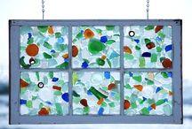 Beach and Sea Glass Windows