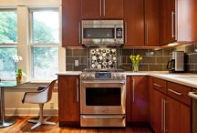Leland Interiors: Retro Kitchen Design / Remodeled kitchen in a 1920's home