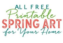Spring / A collection of spring themed craft & decorating ideas.