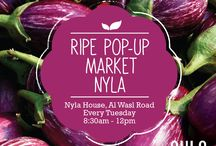 Ripe Pop-Up Market NYLA House / Ripe has teamed up with NYLA House, an oasis of fitness and wellness in the Middle East, for a new midweek Pop-up market. The Ripe Pop-up Market starts on the 13th January 2015 and runs every Tuesday at NYLA House on Al Wasl Road, Dubai. Pick up farm fresh, organic fruits and veggies from Ripe as well as a range of superfoods.  We will also have a variety of health, wellbeing and lifestyle vendors selling everything from crafts, fashion, swimwear and jewellery.