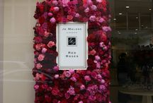 floral window display