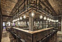 Restauracje/kawiarnie/galerie w rustykalnym stylu.