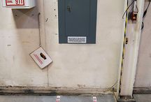 Emergency Areas Defined / Marking the important areas of a buliding that need to be easily accessed in case of emergency. Examples include electrical panels, fire extinguishers, first aid kits, and exits.