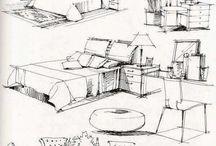 Sketches> Interior Design